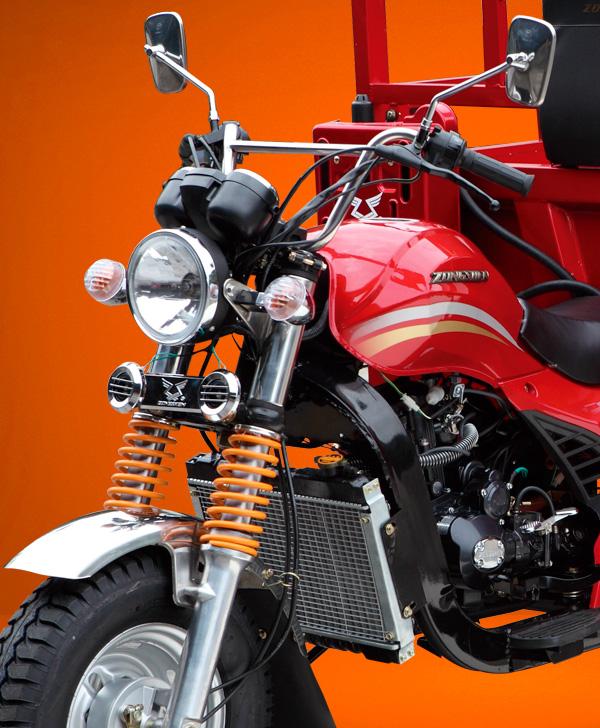 zongshen-motocicleta-furgón 250-parte-delantera